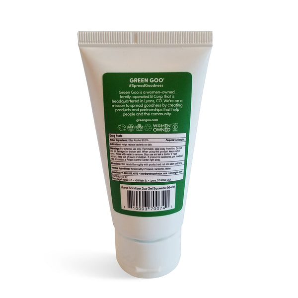 Hand Sanitizer Squeeze Tube (2 oz.)