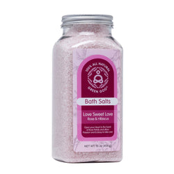 Rose + Hibiscus Bath Salts | Green Goo by Sierra Sage Herbs