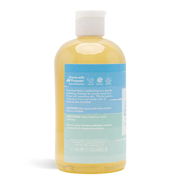 Castile Soap - Unscented Aloe Baby Wash
