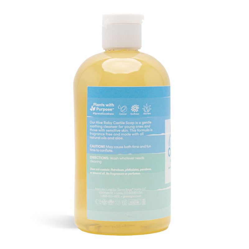 Unscented Aloe Baby Wash Castile Soap | Green Goo by Sierra Sage Herbs