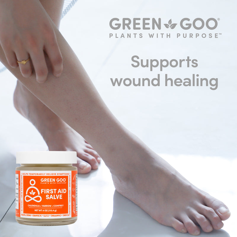 Our first aid salves support wound healing | Green Goo by Sierra Sage Herbs