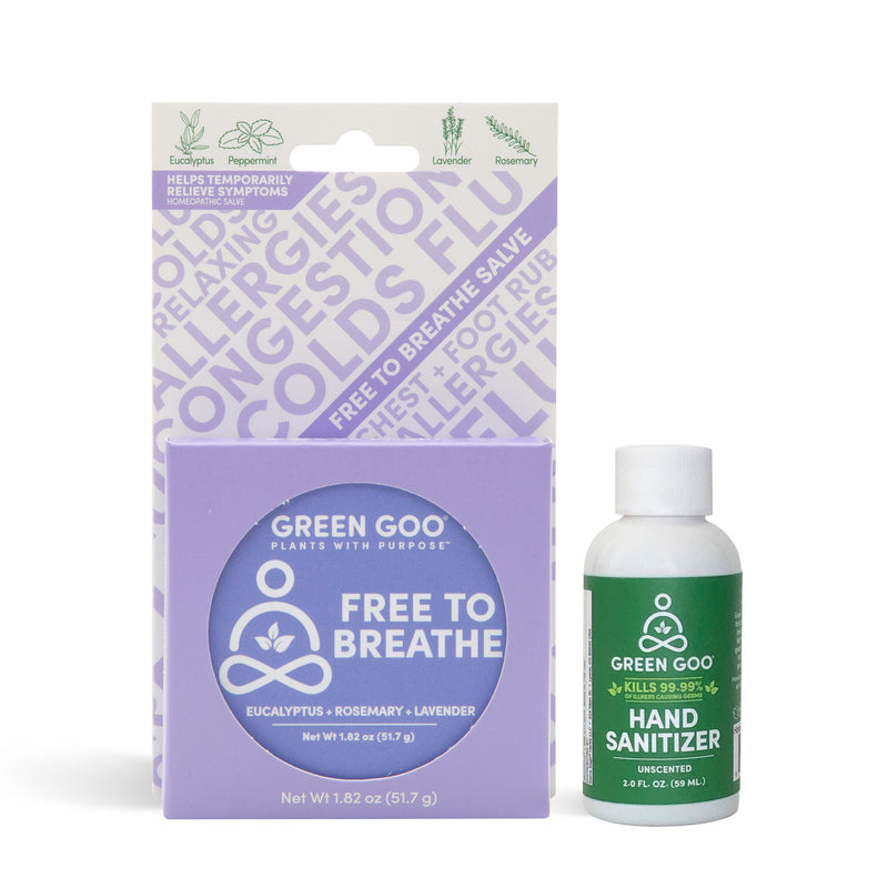 Free To Breathe + Hand Sanitizer Bundle | Green Goo by Sierra Sage