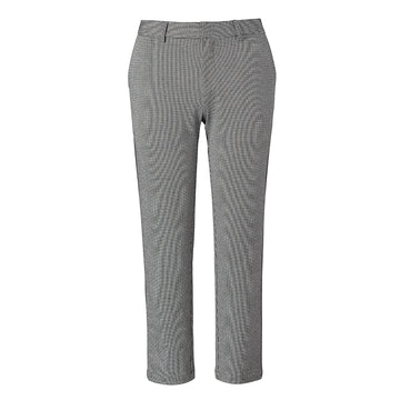 Olympia Houndstooth Cropped Trouser