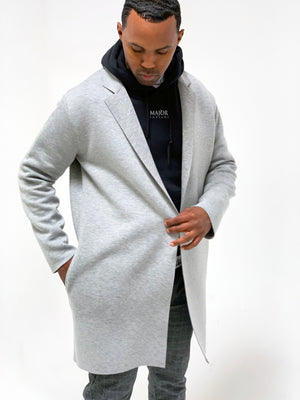 Maston Short Coat Heather Grey