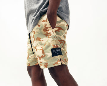 Suede Safari Light Camo Short