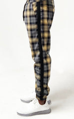 Pinn Trouser Gold Plaid