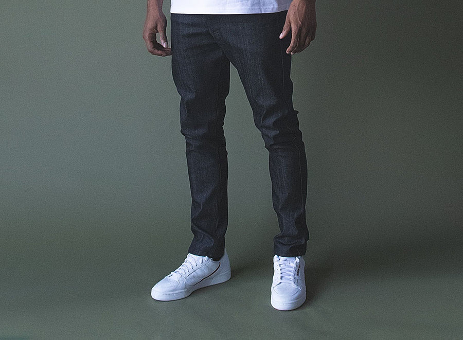 Stacked Denim Trouser
