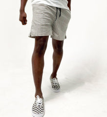 Stripe Drawstring Short