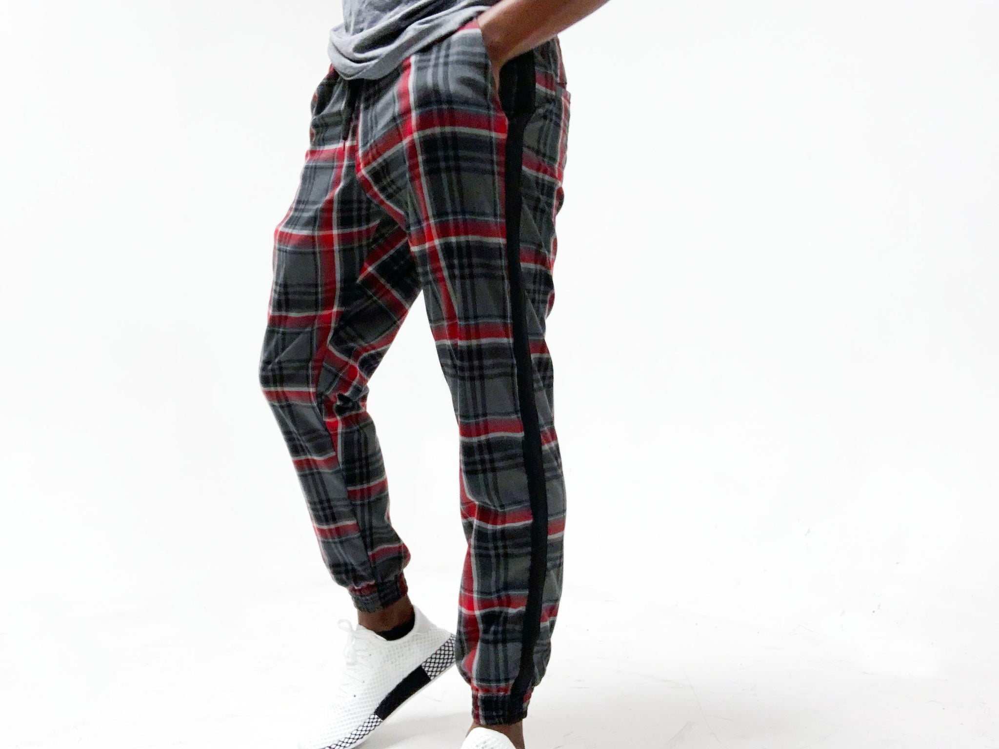 Pinn Trouser Grey Plaid