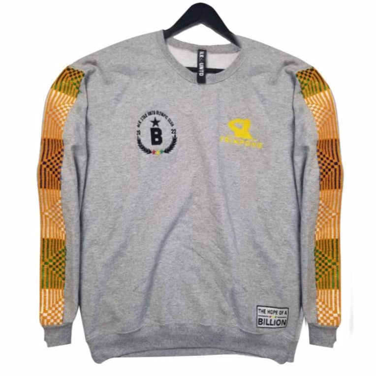 Frimpong sweater in collaboration with black star united  - gray