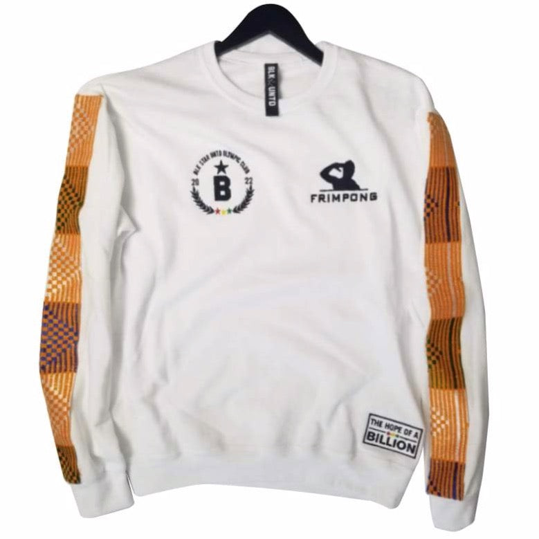 Frimpong sweater in collaboration with black star united  - white