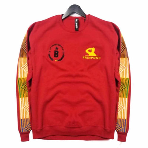 Frimpong sweater in collaboration with black star united  - red