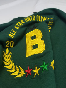 Frimpong sweater in collaboration with black star united  - green