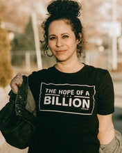 Load image into Gallery viewer, HOPE OF A BILLION TEE BS - WOMEN - BLACK