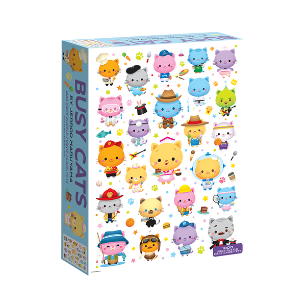 Busy Cats by Jerrod Maruyama - 1000 pc Jigsaw Puzzle