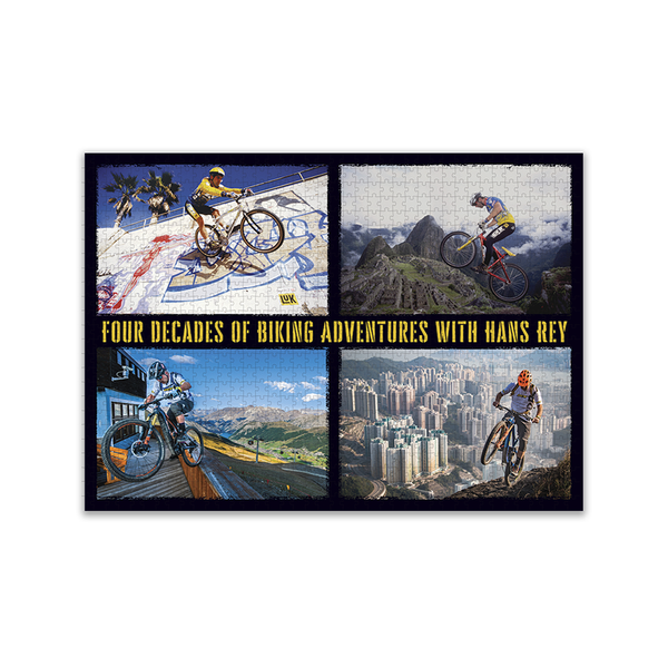 Four Decades of Biking with Hans Rey - 1000 pc Jigsaw Puzzle