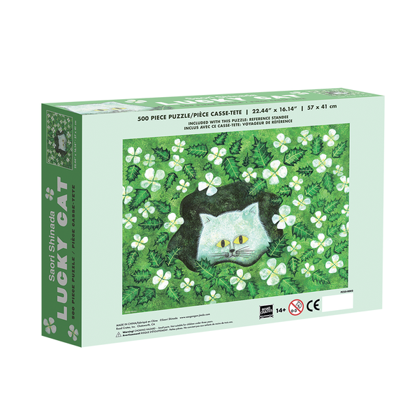 Lucky Cat by Saori Shinada - 500 pc Jigsaw Puzzle