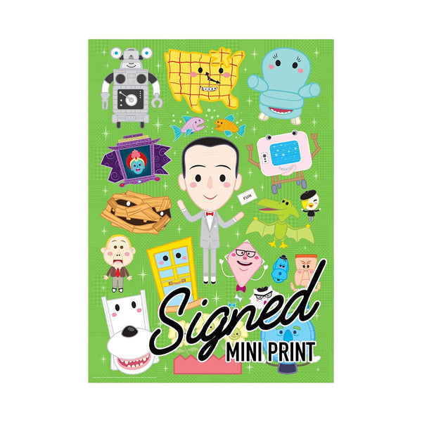 Pee-wee's Playhouse SIGNED Variant Timed Edition Jigsaw Puzzle