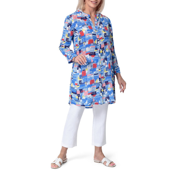 East Silk Mykonos Oversize Shirt Dress/Top