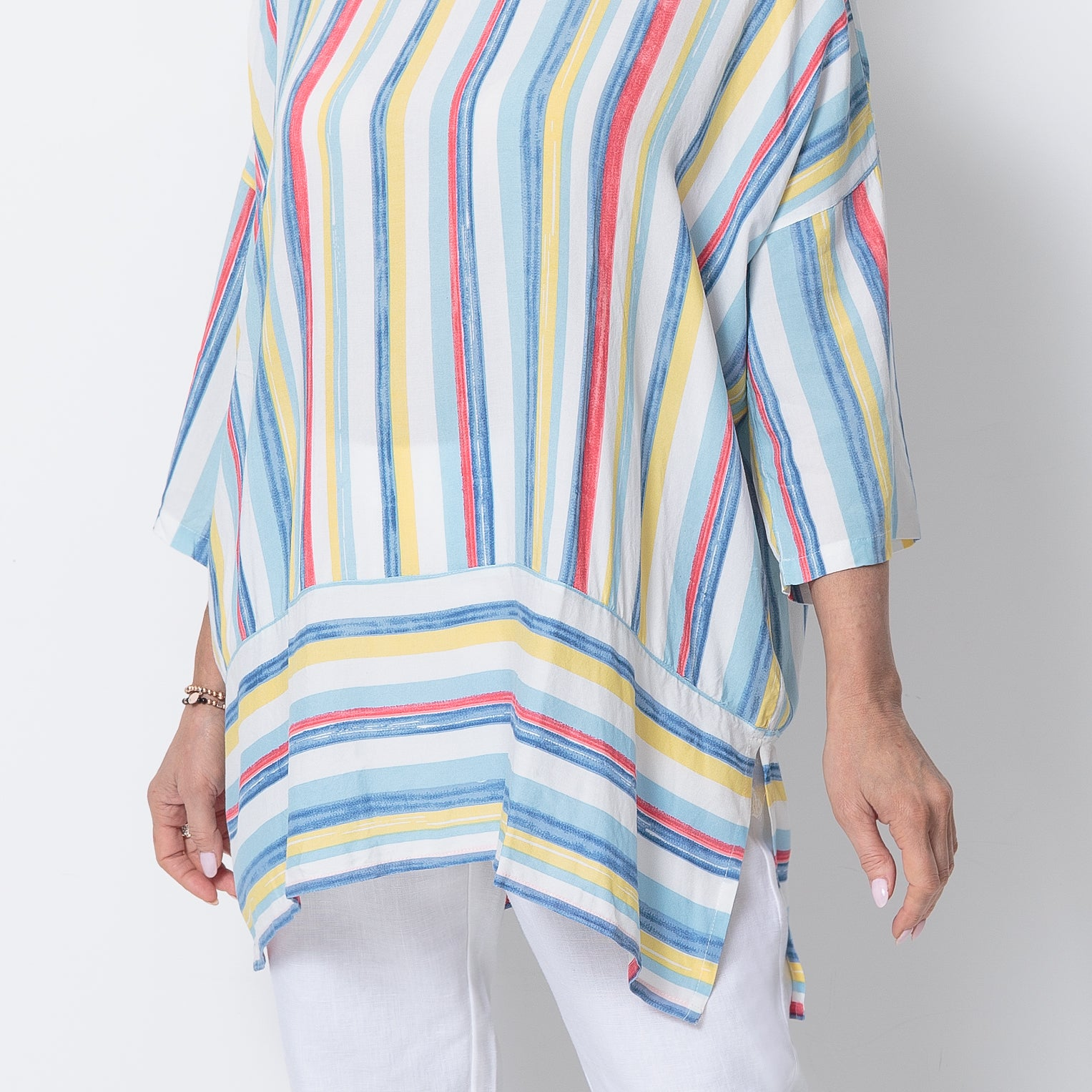 East Athena Stripe Tunic Top