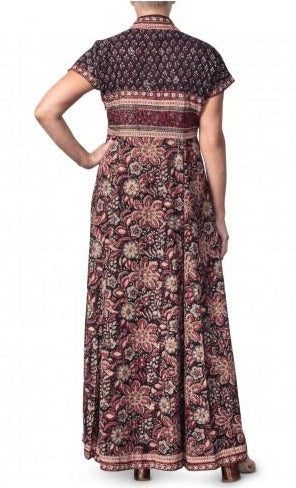 Anokhi Bagru Cotton Floral Print Maxi Dress