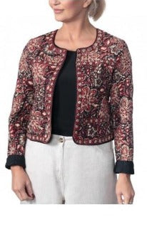 Anokhi Bagru Cotton Floral Print Quilted Jacket
