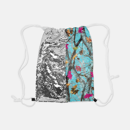 NEW Reversible Sequin Hotleaf Sky™ Drawstring Bag