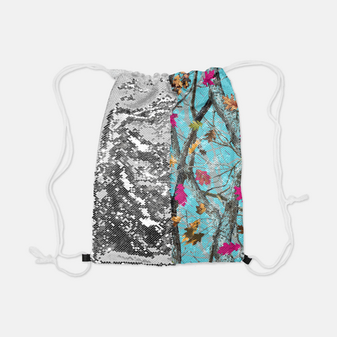 Reversible Sequin Hotleaf Sky™ Drawstring Bag