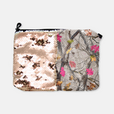 Reversible Sequin Hotleaf Camouflage Toiletry Bag