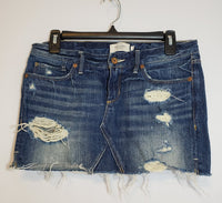Pre-Owned Abercrombie & Fitch Jean Skirt Size 2 Distressed