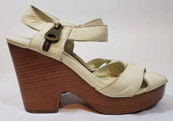 Pre-owned Marc Jacobs Heels Block Wedge Style Strappy Peep Toe Size 39