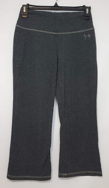 Pre-owned Green Apple Yoga Cropped/Capri Pants Women's Small Gray