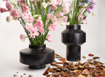 "Load image into Gallery viewer, Double-sided ""GIROVAGO"" Black Marble Flower Vase"