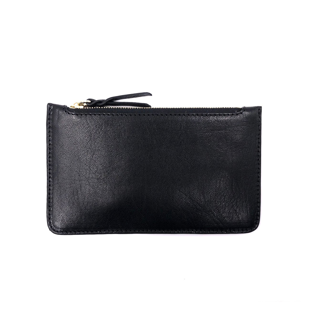 BLACK NATURAL GRAIN MAXI POUCH