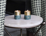 Load image into Gallery viewer, Marble Brass Candle Holders