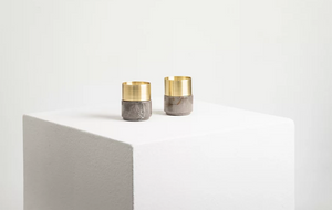 Marble Brass Candle Holders
