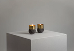 Load image into Gallery viewer, Lavastone Brass Candle Holders