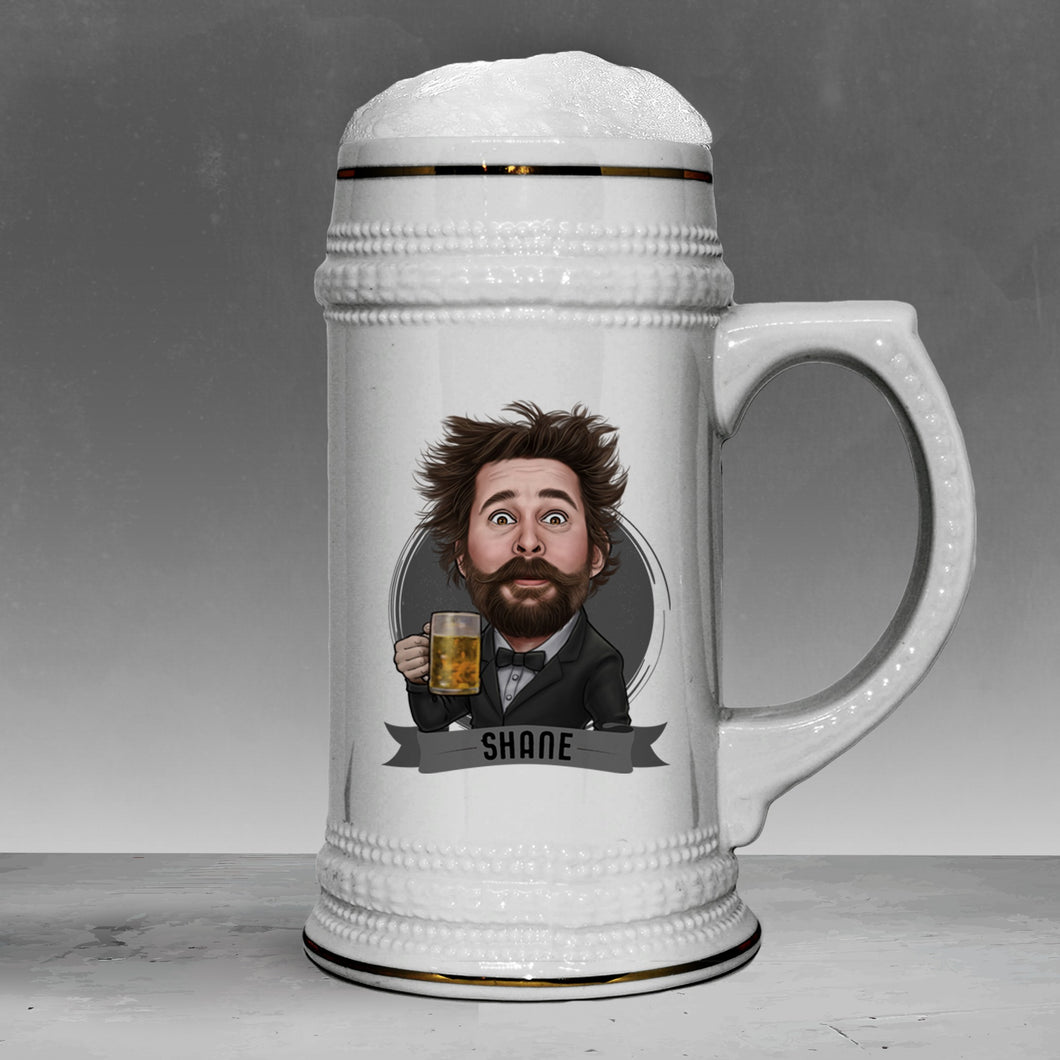 custom groomsmen beer stein