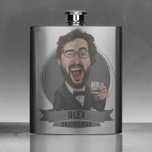 Load image into Gallery viewer, groomsmen flask gift