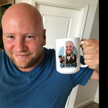Load image into Gallery viewer, customer with personalized groomsmen coffee mug