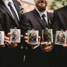 Load image into Gallery viewer, groomsmen with flasks
