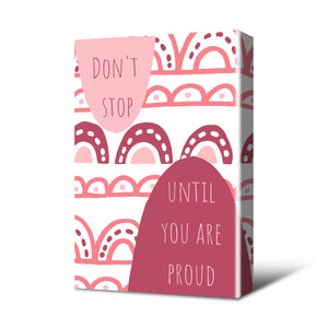 Don't Stop Canvas Print Mulberry