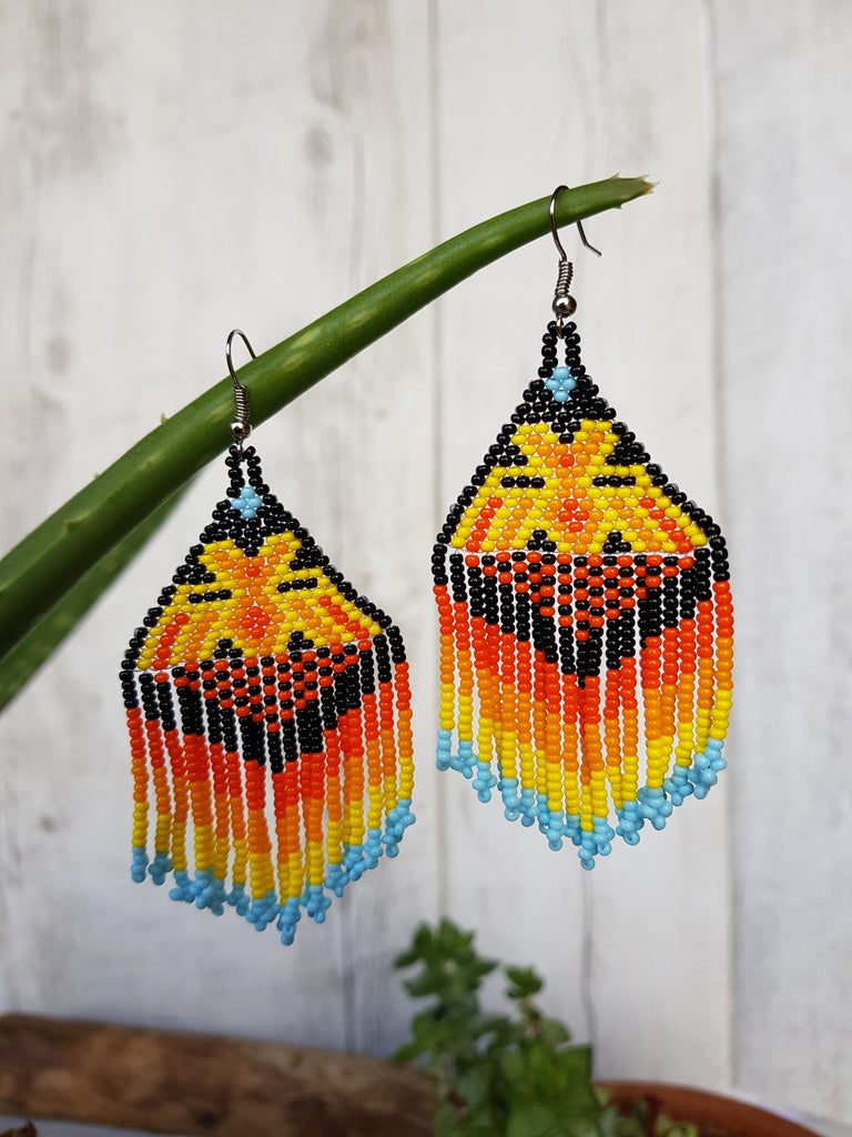 Mexican Huichol Earrings