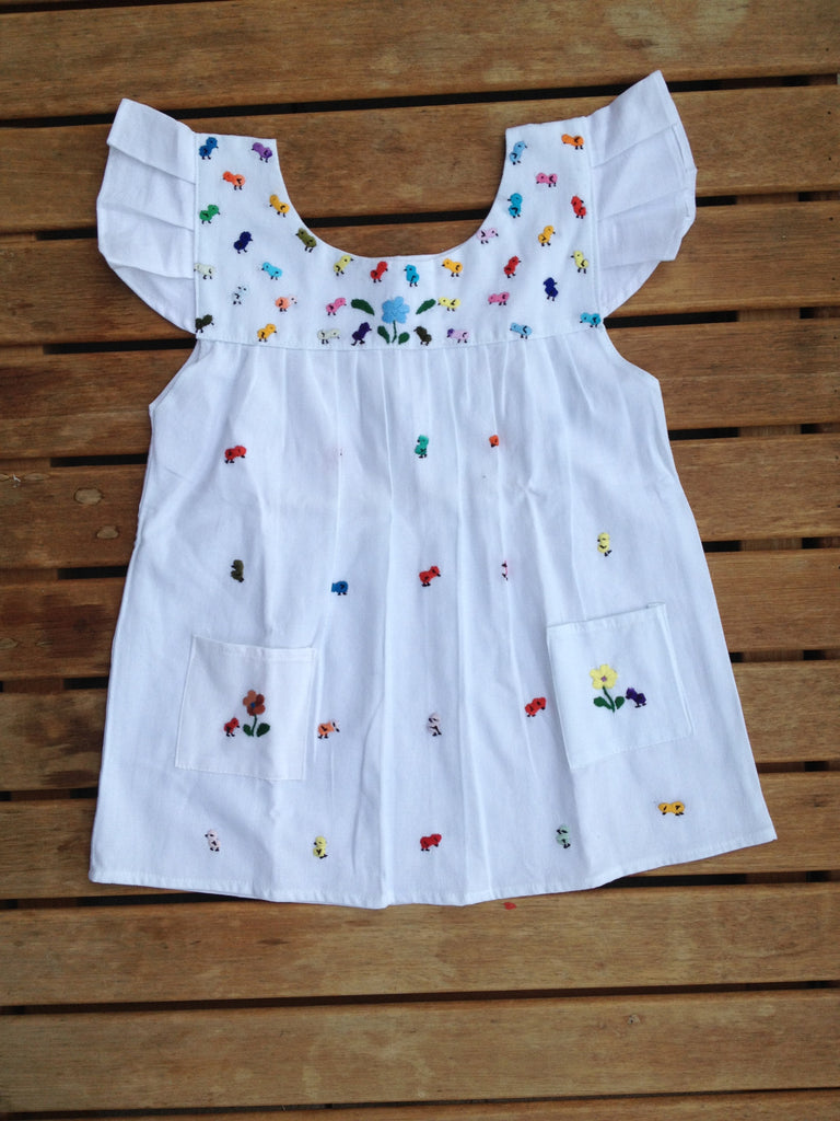 Baby chicken girl's dress