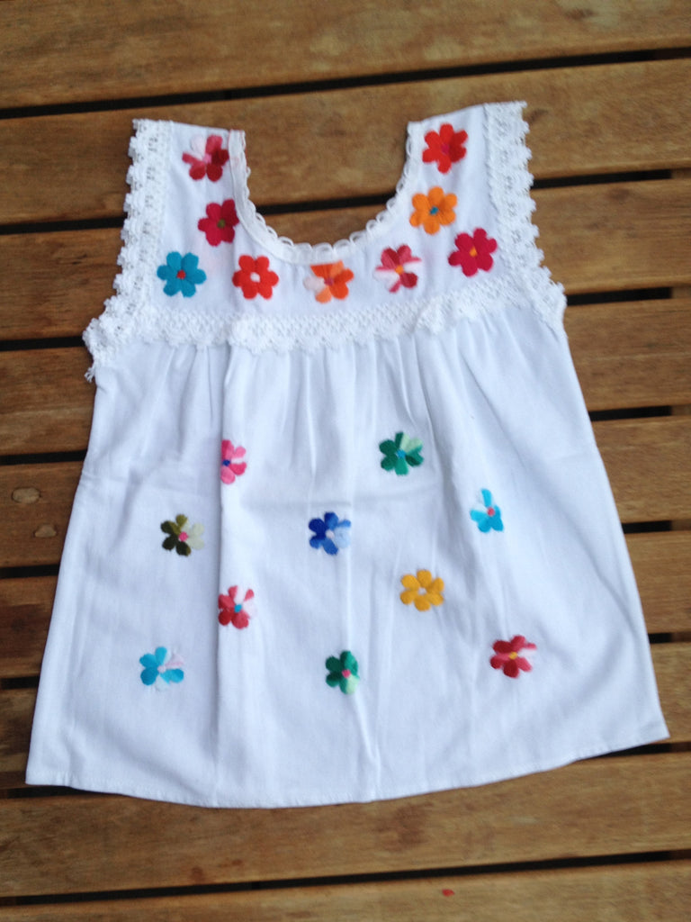 Flowers and colours girl's blouse / dress