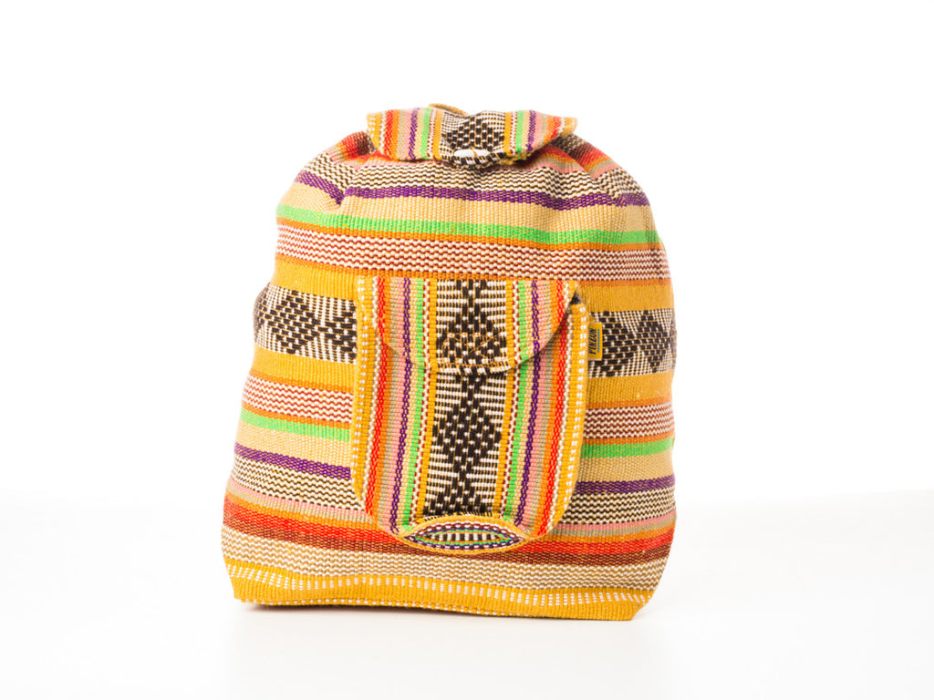 Classic Mexican backpack (Large/Yellow)