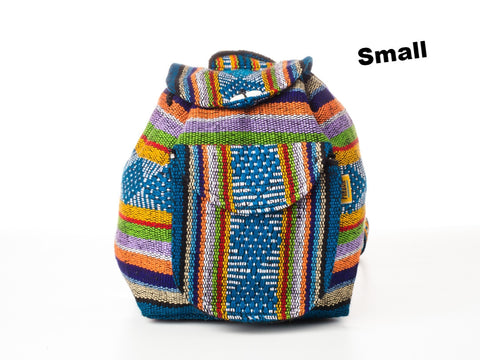 Classic Mexican backpack (Small/Blue)