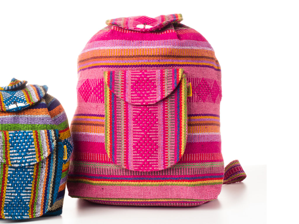 Classic Mexican backpack (Large/Pink)