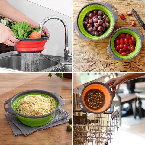 Foldable Silicone Colanders