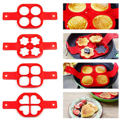 Non stick Silicone Pancake & Egg Mold - The Helpful Kitchen